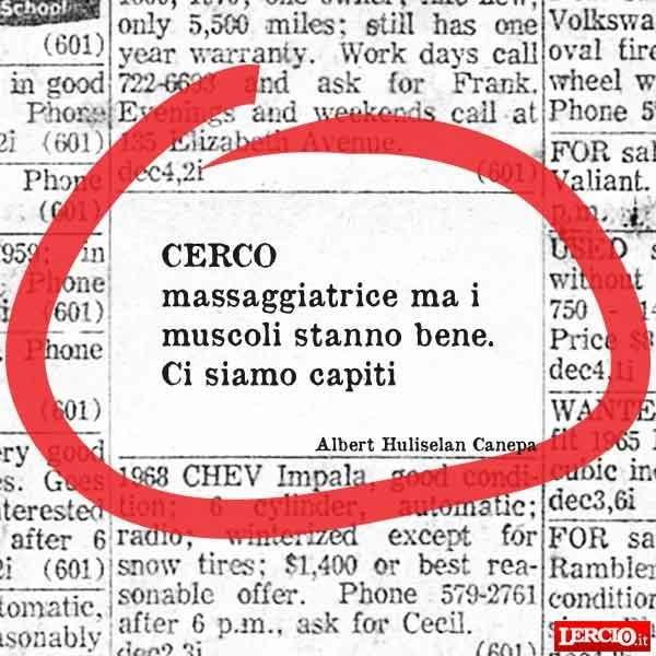 Annunci Lerci 25 Gennaio 2016 - Lercio