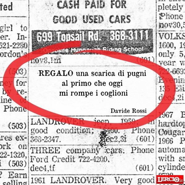 Annunci Lerci 23 Maggio 2016 - Lercio